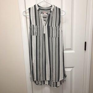 Merona gray white stripe dress! Small
